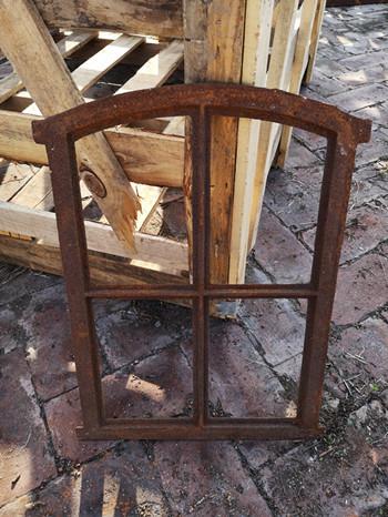 Quality Classical Decorative Furniture Cast Iron Windows H49xW37CM Arch Mirror Wall Decor for sale
