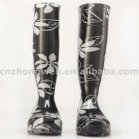 China Flowers PVC Rain Boots on sale