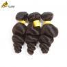 Loose Wave Virgin Peruvian Hair Bundles Grade 10A , Malaysian Body Wave Hair for sale