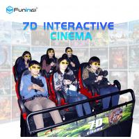 China Dynamic Cabin 5D / 6D / 7D / 9D Cinema Simulator Roller Coaster Ride Home Theater wholesale