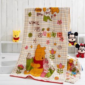Funny Winnie Kids Disney Beach Towels Tie Dye Cartoon Suitable For Bath