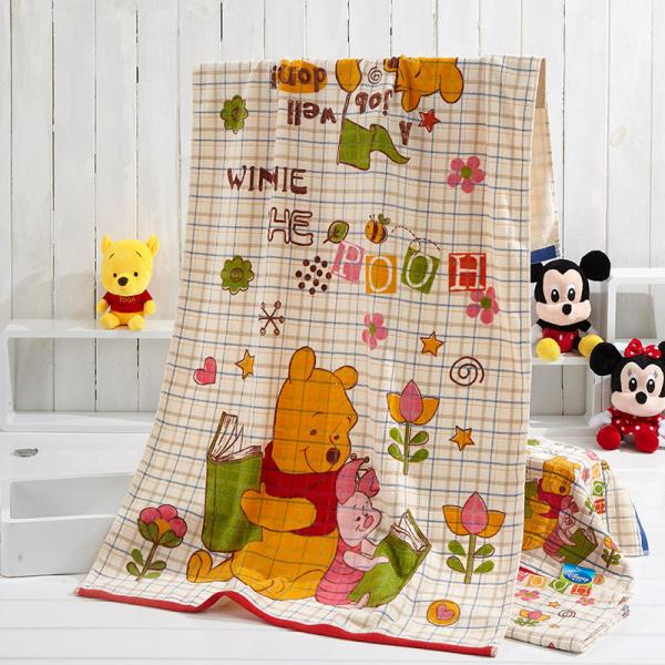 Quality Funny Winnie Kids Disney Beach Towels Tie Dye Cartoon Suitable For Bath for sale