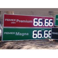 China 12 Inch Outdoor Electronic digital gas price signs For Oil Stations , long Lifetime wholesale