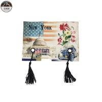 China Tassels Digital Printed Patches / Custom Photo Patches Eco Friendly 13*19CM Size wholesale