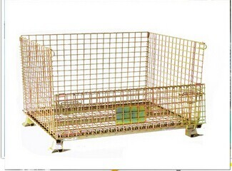 Quality 400kg-1000kgs Transport Wire Mesh Metal Foldaway Containers for sale