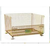 China Stackable foldable zinc finished wire mesh container wholesale
