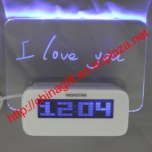 China LED Luminous Message Board Digital Alarm Clock With Calendar 4 USB Hub wholesale