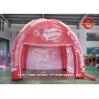 China Dome Red PVC Inflatable House Tent High - Definition Cartoon Pattern on sale