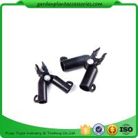 Adjustable Garden Cane Connectors , 16mm Black Bamboo Cane Connectors 50*40*40 Free sample