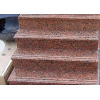 China Red Straight Granite Step Treads For Indoor Outdoor Step Finish Optional wholesale