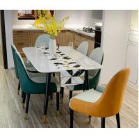 China Marble Top Dining Table Modern Luxury Furniture With Stainless Steel Legs wholesale