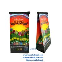 China Guangdong manufacturer custom design vivid printing laminated material plastic coffee bag with tin tie and valve on sale