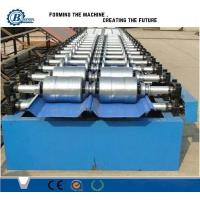 China Hydraulic Aluminum Zinc Standing Seam Roll Forming Machine For Roof Panel wholesale