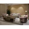 China Patchwork Antique Crushed Luxury Velvet Fabric Sofa wholesale