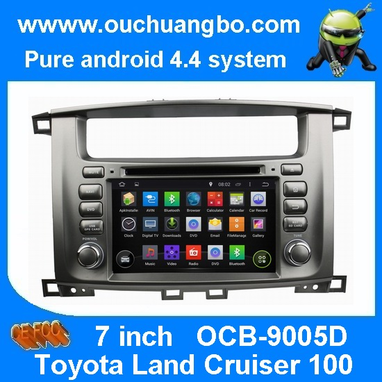 Quality Ouchuangbo Toyota Land Cruiser 100 pure android 4.4 OS autoradio stereo dvd navi build in for sale