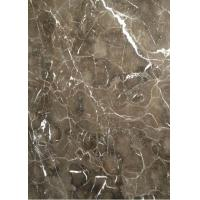 China Light / Dark Brown Gloss Marble Floor Tiles Indoor Decoration For Wall / Stair wholesale