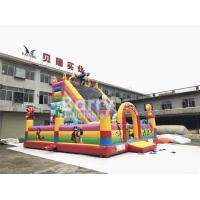 China Cartoon Inflatable Bounce House And Slide Combo With Blower For School And Daycare wholesale