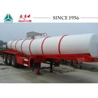 China Durable Sulphuric Acid Tanker Trailer 3 Axles 30-40 Tons Capacity wholesale