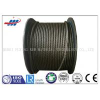 China Uncoated High Carbon Steel Wire Rope Cable 6x37S+FC For Hoist / Loading on sale