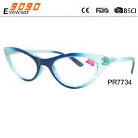 Buy cheap Cat eye reading glasses made of piastic,spring hinge ,suitable for women from wholesalers