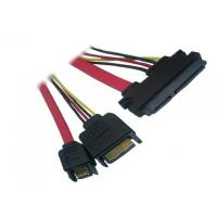 China SATA 22pin to SATA 15pin male+SATA 7pin male cable,Red 7+15Pin Sata Cable wholesale