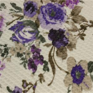 China Anti - Slip Sofa Patterned Velvet Upholstery Fabric 28S/32S Density wholesale