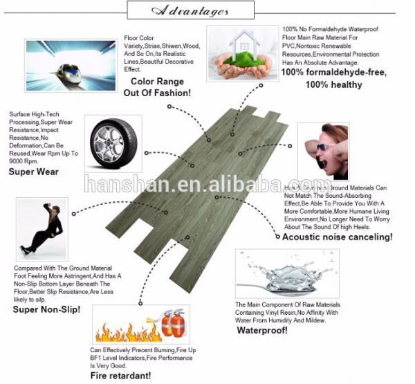 Hot Sales High Quality Commercial Non-slip Vinyl Pvc Plank Flooring