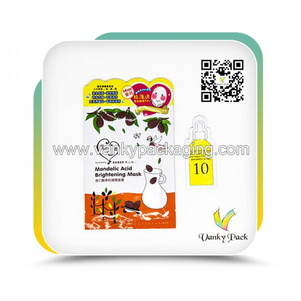 Quality Aluminum Foil Facial Mask Packaging For Brands for sale