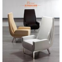 China Classical Luxury Living Room Furniture / Chair Leather Sofa with Stainless Frame wholesale