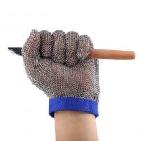 China Stainless Steel Metal Cut Resistant Butcher Gloves/Stainless Steel Chainmail Glove/Metal Mesh Chainmail Glove In Stock wholesale
