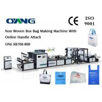 China Automatic Non Woven Bag Making Machine With Handle wholesale