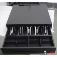 China Black Color Finish Metal Mini Cash Register Drawer Lock Box For POS Systems wholesale