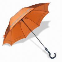 China Straight Auto Open and Close Umbrella with AO/AC Marking, Measures 23-inch x 16 Ribs wholesale