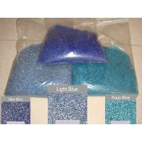 China Blue glass pebble for pool finishes wholesale