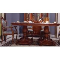 China Dining room furniture dining tables wood dining table set finish dining table LS-A612L-1 wholesale