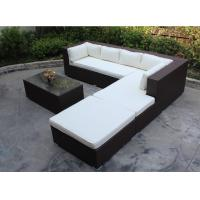 China 4 piece -L shaped hotel lobby sofa commercial hotel furniture rattan sofa bed set-16202 on sale