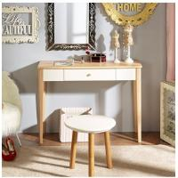 Natural Light Wood Computer Desk Durable With Solid Wood Legs