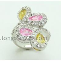 China 925 silver flower ring, fashion silver ring wholesale wholesale