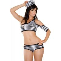 China Robber Penitentiary Penny Prisoner Halloween Adult  Costumes woman sexy wholesale