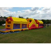 China Amazing 75ft Massive Bouncy Castles Obstacle Course In Challenge Games wholesale