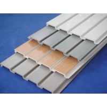 China Flexible Interior PVC Slatwall Panels For Storage Room Laundry Basement wholesale