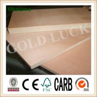 China Qingdao Gold Luck 1220x2440mm Poplar Core Okoume Faced Plywood on sale