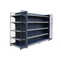 China Movable Epoxy Black Supermarket Display Shelving / Convenience Store Display Racks wholesale