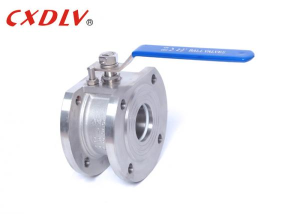 Quality 1pc Handle Wafer Flanged Ball Valve PTFE PPL Seat Italy Ball Valve Normal Pressure for sale