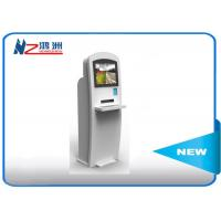 China 22 Inch Powder Coated Self Service Kiosk Self Check In Kiosk With Keyboard wholesale