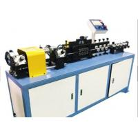 China 1.12KW Flexible Tube Straightening And Cutting Machine For Aluminum / Copper / Steel Tube wholesale