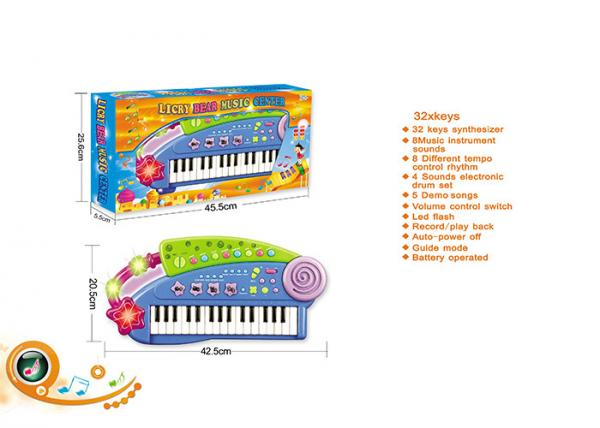 Quality Blue 32 Keys Electric Keyboard Children's Play Toys Piano Instrument 37 Synthesizer for sale