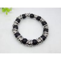 China Stainless Steel Black Opal Stone Charm Bracelets 1430019 wholesale