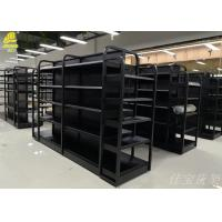 China Multi Layer Wood And Metal Shelves For Medium Sized Luxury Stores on sale