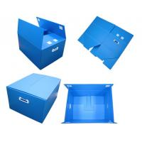 China Blue Non - Toxic Folding Plastic Corrugated Plastic Boxes With Thickeness 2-6mm wholesale